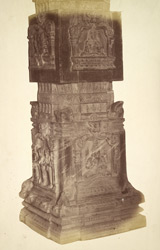 Close view of column of the Hazara Ramachandra Temple, Vijayanagara